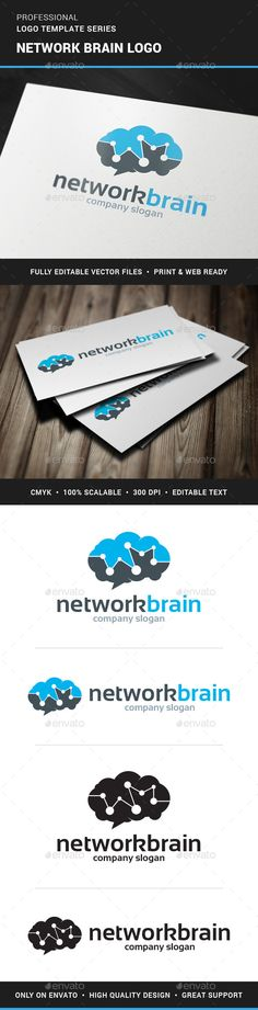 Network Brain Logo Template for sale at #GraphicRiver >> Buy this logo for $29,-