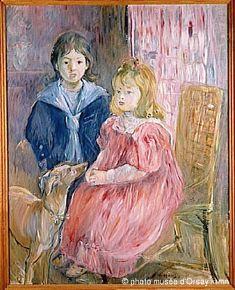 Berthe  Morisot (Français, 1841-1895) Les enfants de Gabriel Thomas,1894. (France, 1841-1895) Berthe  Morisot (French, 1841-1895) The children of Gabriel Thomas, 1894. Берта Моризо (Французский, 1841-1895) Дети Гавриила Томаса, 1894 год.伯特 莫利索 (法国,1841-1895) 加百列托马斯的孩子,1894年。
