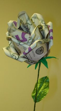 DIY money rose gift