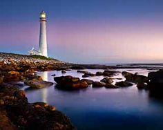 Kommetjie Lighthouse. Tallest cast iron lighthouse along South Africa Coast