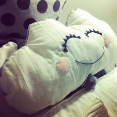 Smiley cloud cushion  #handmade