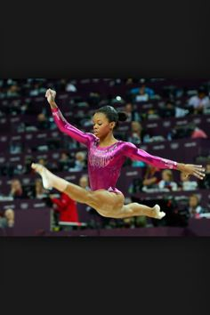 Gabby Douglas is one of the best in the world, if you keep trying you could be standing next to gabby in the Olympics one day