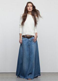 Jeans Maxi skirt