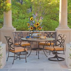 Fine wrought iron furniture. Handcrafted in the U.S. www.avdesignsgarden.com