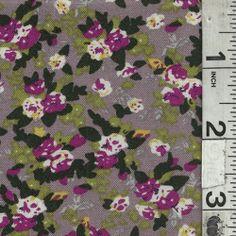 Dusty Mauve Floral Challis - Discount Fabrics