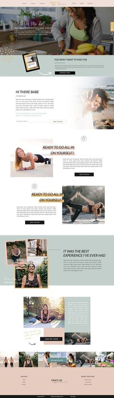 Chic & Intuitive Website Template designed for Online Fitness Coaches Personal Trainer Website, Coach Website, Custom Web Design, Website Design Inspiration, Layout Inspiration, Homepage Design, Web Design Tutorials, Website Layout, Website Template