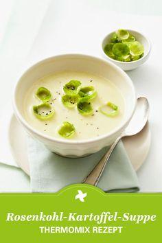 Es ist wieder Rosenkohlzeit! Das Thermomix ® Rezept für Rosenkohl-Kartoffel-Suppe stimmt selbst Rosenkohl-Gegner um. Gefunden auf www.cookidoo.de, dem Thermomix ® Rezept-Portal.