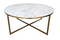 Alisma coffee table, round, gold – Coffee tables - ID Design Interieurs - Living room Walnut Coffee Table, Round Coffee Table, Rustic Apartment, Id Design, Interior Inspiration, Living Room Decor, New Homes, Modern, Furniture