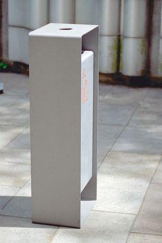 radium Litter bin by mmcité Furniture Dolly, Urban Furniture, Street Furniture, Cool Furniture, Furniture Design, Home Lockers, Lanscape Design, Top Furniture Stores, Recycling Bins
