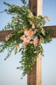 Floral Cross for Wedding Ceremony