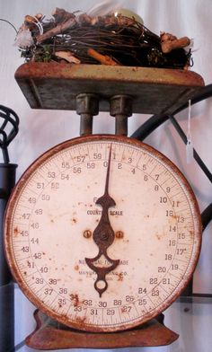Antique scales, while functional, make great accent pieces in the kitchen or dining area!  Your eyes focus on the treasure they hold.