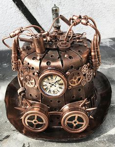 Your place to buy and sell all things handmade Steampunk Pirate, Steampunk Top Hat, Style Steampunk, Steampunk Crafts, Steampunk Clock, Steampunk Design, Steampunk Fashion, Gothic Fashion, Steampunk Images