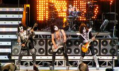 KISS Alive 35 Concert @ Bell Center , Montreal, Canada on 13th July 2009.    KISS is about 35 years old as a band, but its still rocking hard. Known for their elaborate stage shows, they came out on stage with Comic Book styled Superhero outfits - The  Mwah  <3