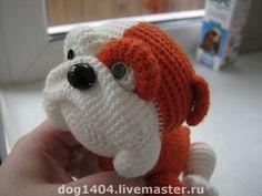 МК по вязанию игрушки Бульдог - вязаная собака,бульдог,друг,домашнее животное