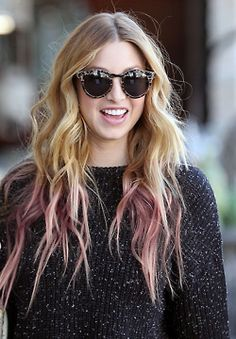 pink and blonde ombre hair