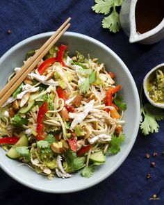 Szechuan Chicken Noodle Salad  #dairyfree