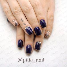 Насыщенный синий цвет и отличный дизайн в исполнении Анастасии О (Ⓜ️ Академическая) #pilkinail #pilki_nail #пилки #маникюр #педикюр #шеллак #красивыеногти #красивыйманикюр #санктпетербург #nails #nailart #shellac #академическая