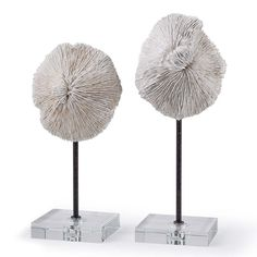 Mushroom Coral Accessories (Pair) - Click image to purchase #cadieuxinteriors #roomaccents