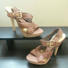 Size: 9 Safari Strapped Heels The bomb.com!! Only worn once. Love them..can be paired with just about anything!! Charlotte Russe Shoes Heels