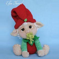 Elfin Thread- Gribin, The Baby Elf Amigurumi PDF Pattern (Elf Pixie Corchet pattern) Amigurumi Doll, Amigurumi Patterns, Crochet Patterns, Crochet Tree, Crochet Baby, Elf Images, Holiday Crochet, Christmas Elf, Crochet Dolls