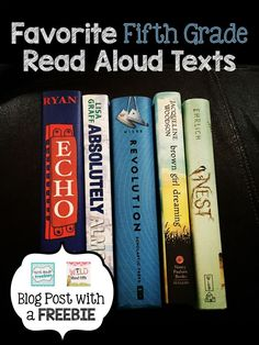 If you're like me you probably enjoy switching up your read alouds once in awhile and trying something new. But finding that something new can be a lot of work. Not anymore!!!!! I've compiled a FREE list for you of the BEST fifth grade read alouds - chose