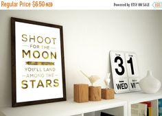ON SALE Shoot for the moon Digital Prints Downloadable by Kultured