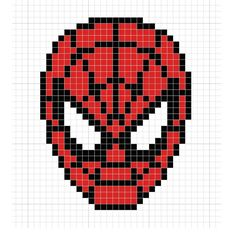 Bügelperlen in Rot, Weiß und Schwarz werden für Spiderman benötigt