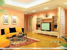 Image result for lounge room styling orange and yellow