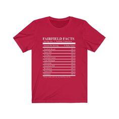 Fairfield Facts Unisex Jersey Short Sleeve Tee - Red / XL