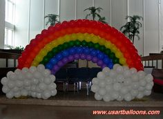 Rainbow Square Pack Arch with Clouds Printed Balloons, Foil Balloons, Latex Balloons, Rainbow Balloon Arch, The Balloon, Diy Hot Air Balloons, Care Bear Party, Wholesale Balloons, Balloon Decorations