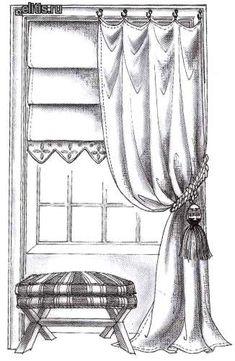 римская штора с фестонами