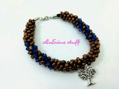 Brown tree bracelet