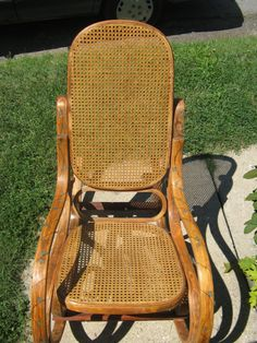 Renewed Old Rocking Chair with new Wood by PickslaysWoodBurning, $75.00