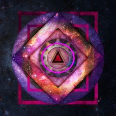 This is Universe - Copyright 2017 Troy Green ebin.media  Geometric Spiritual Galaxy.  #geometric #galaxy #galaxies #galaxyart #universe #universeart #art #space #stars #triangle #spiritual #acidtrip