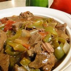 Cooking With Cast Iron Meat Recipes, Slow Cooker Recipes, Crockpot Recipes, Cooking Recipes, Crockpot Pepper Steak, Cooking Red Potatoes, Loose Meat Sandwiches, Crock Pot Food, How To Cook Rice