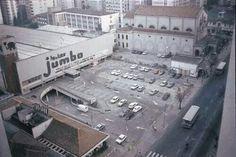 Década de 70 - Supermercado Jumbo na avenida Brigadeiro Luiz Antônio, ao lado da igreja Imaculada Conceição. Foto de Carlos Alkmin.