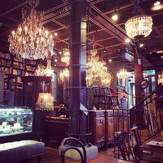Japanese Landscape, Cafe Bar, Cafe Design, Nice View, Chandelier, Cozy, Restaurant, Ceiling Lights, Style Inspiration