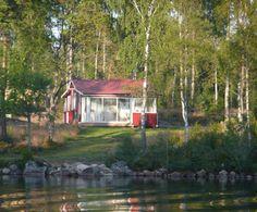 Ferienhaus in Småland am See an der Bucht