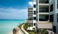 Rear view of Ocean Reef, Barbados. Condos available for sale or rent in Worthing. Worthing, Caribbean Sea, Condos, Barbados, Being A Landlord, Rear View, Property For Sale, Real Estate, Ocean