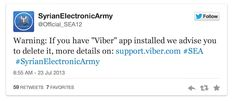 Viber hacked by Syrian Electronic Army