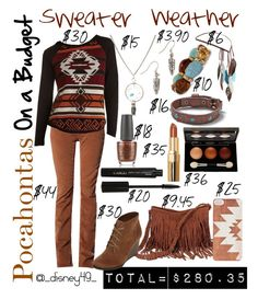 """""""On A Budget: Pocahontas: Sweater Weather"""" by disney49 ❤ liked on Polyvore featuring ASOS, Stitches, Charlotte Russe, A.N.A, OPI, Miss Selfridge, CARGO, American Eagle Outfitters, Forever 21 and On Your Case"""