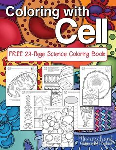 FREE Science Coloring Book: Coloring with Cell – Homeschool Giveaways FREE Science Coloring Book: Coloring with Cell – Homeschool Giveaways,Happy and Healthy – Homeschool Health Resources Coloring with Cell FREE 29 Page Coloring Book. 7th Grade Science, Science Curriculum, Middle School Science, Science Education, Science Activities, High School Biology, Science Topics, Preschool Science, Higher Education