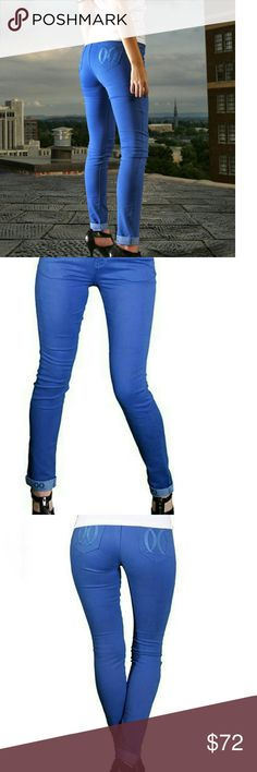 Josie Wachi Jeans Blue colored skinny jeans, new with tags, front button closure, pockets, so cute! Josie Wachi Jeans Skinny