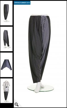 Moyuru Stripe sarouel trouser, £159.00. 95% cotton, 5% polyurethane | idaretobe