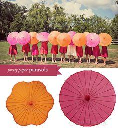 I like the idea of parasols for photos.