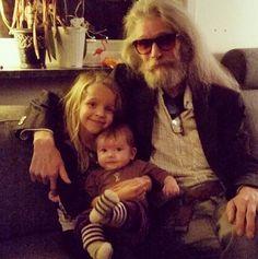 Bjorn Andresen with his grandchild