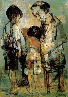 Jean Jansem(1920ー2013)「老人と子ども」