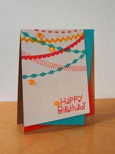 SPARKS Challenge- Banner-licious Birthday Card