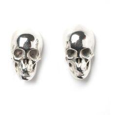 LeiVanKash Skull Stud Earrings - Silver $248