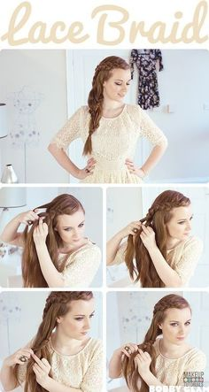 Braided hair tutorials for long hair, easy hair tutorials for short & long hair. | http://makeuptutorials.com/braided-hair-tutorials/
